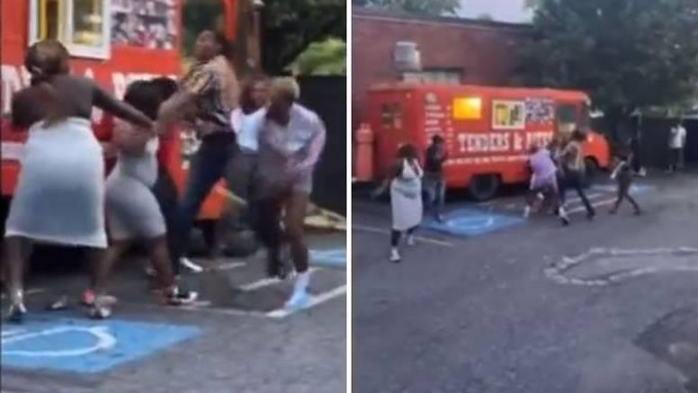 VIDEO Masovna tučnjava WNBA košarkašica pred fast foodom: Letjele su šake na sve strane