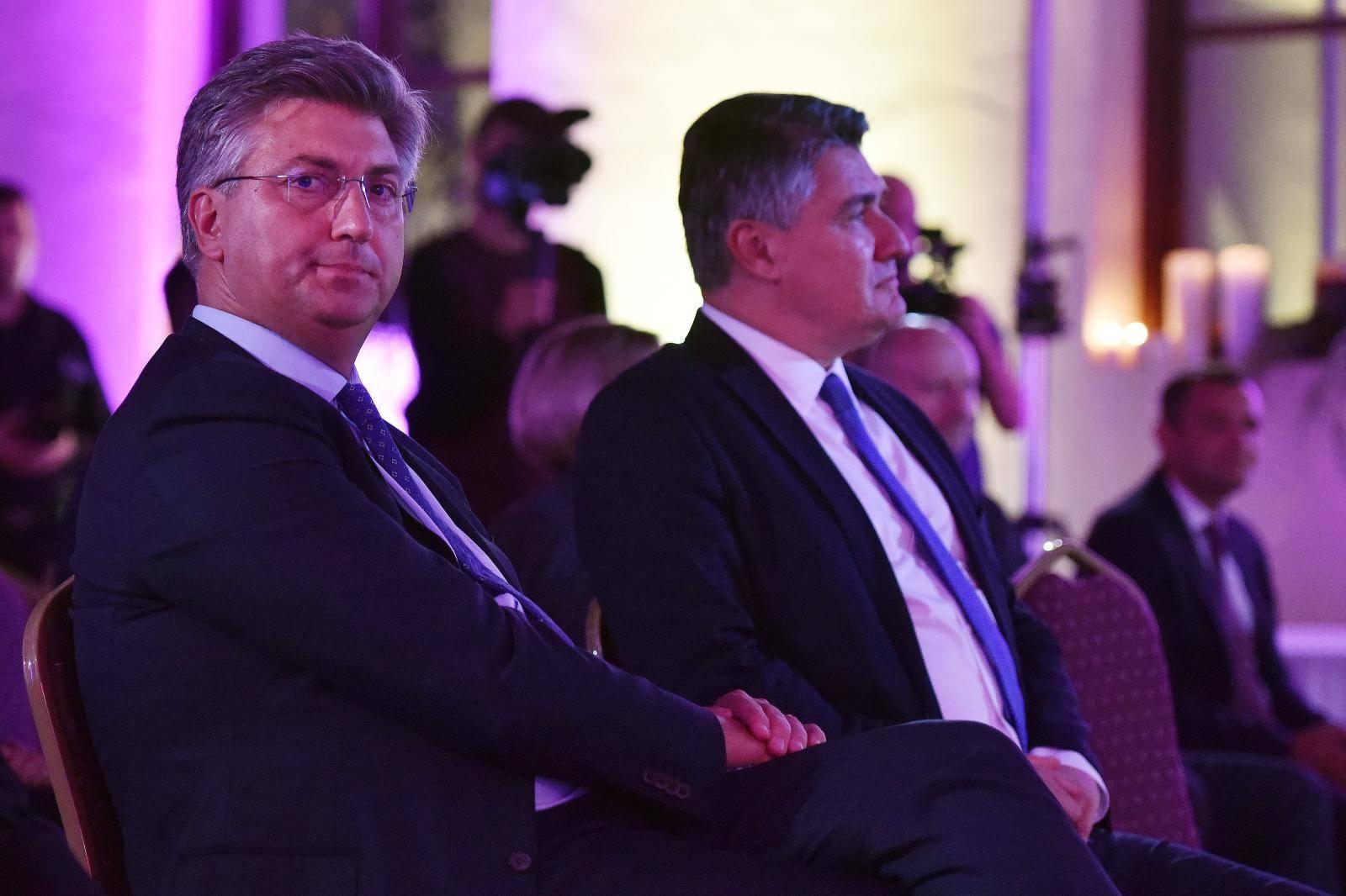 Varaždin: Milanović i Plenković na svečanoj sjednici Varaždinske županije