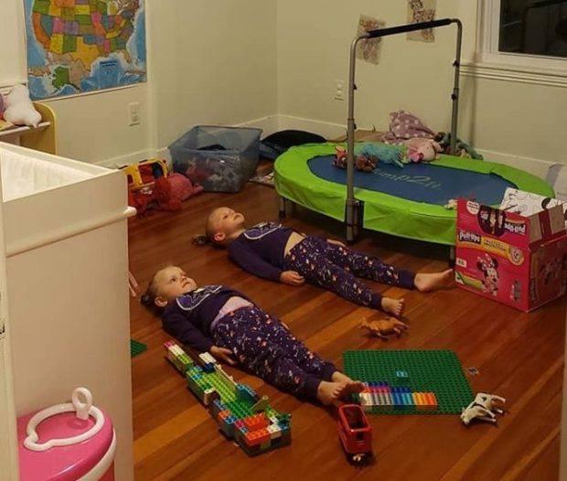 Mama smislila fantastičan trik da smiri djecu prije spavanja