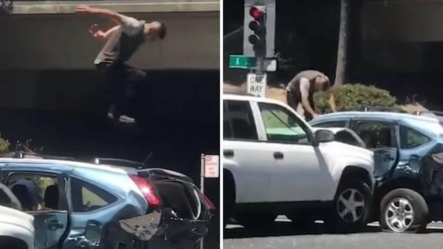 Zabijao se u auto, a onda još i bjesomučno skakao po njemu...