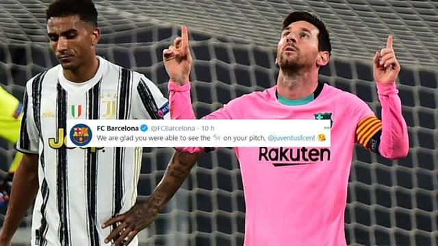 Barca izdominirala Juventus pa ga još i trolala: Drago nam je što ste mogli gledati GOAT-a...