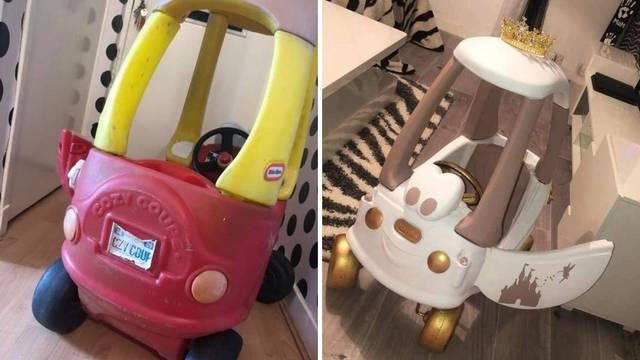 Pripremila iznenađenje svojoj kćeri: Stari automobil pun prašine pretvorila u princezin