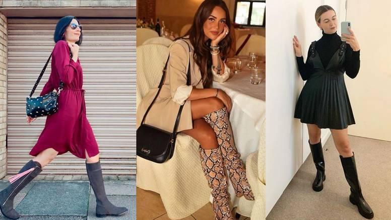 Top kombinacije uz visoke čizme: Suknje, haljine i odijelo
