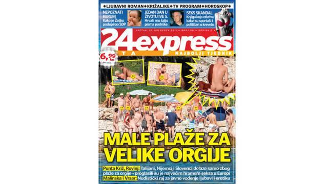 Ekskluzivno u 24sata expressu: Male plaže za velike orgije!