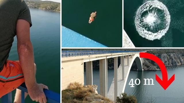 Nemojte ovo raditi ni u ludilu: Skočio je sa Šibenskog mosta!