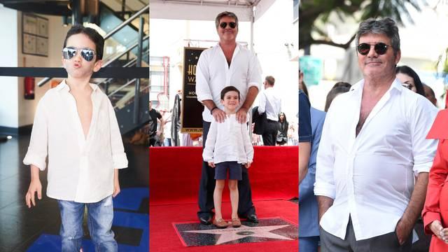 Kakav otac, takav sin: Mališan Simona Cowella se 'raskopčao'