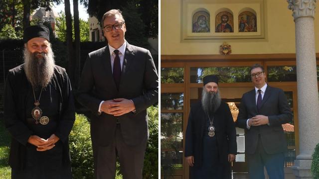 Vučić se susreo s patrijarhom Porfirijem: 'Brinemo za Srbe'