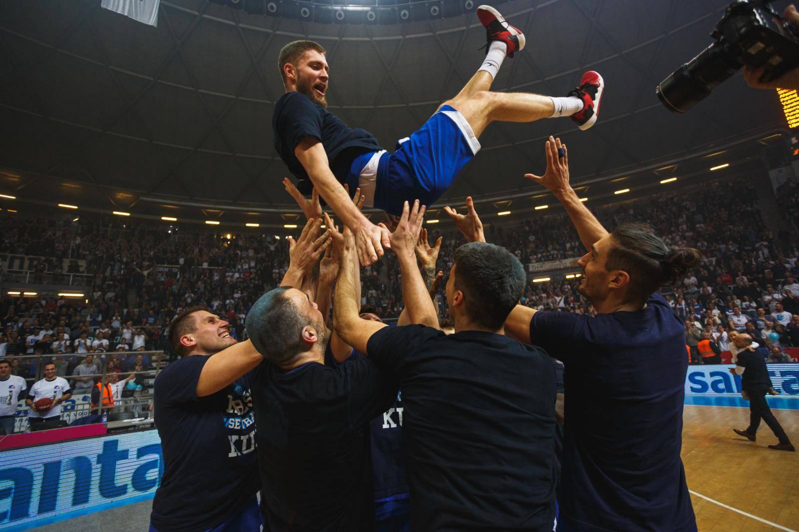 Zadar slavi nakon osvajanja Kupa Krešimira Ćosića