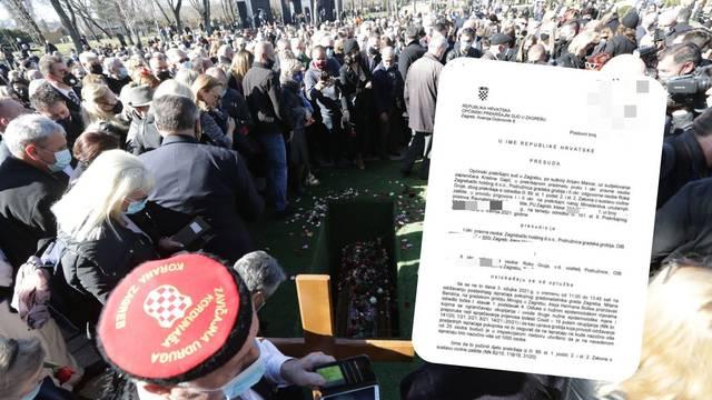 Kakav blam: Sud poništio kazne za Bandićev sprovod jer je MUP fulao vlastite zakonske odredbe