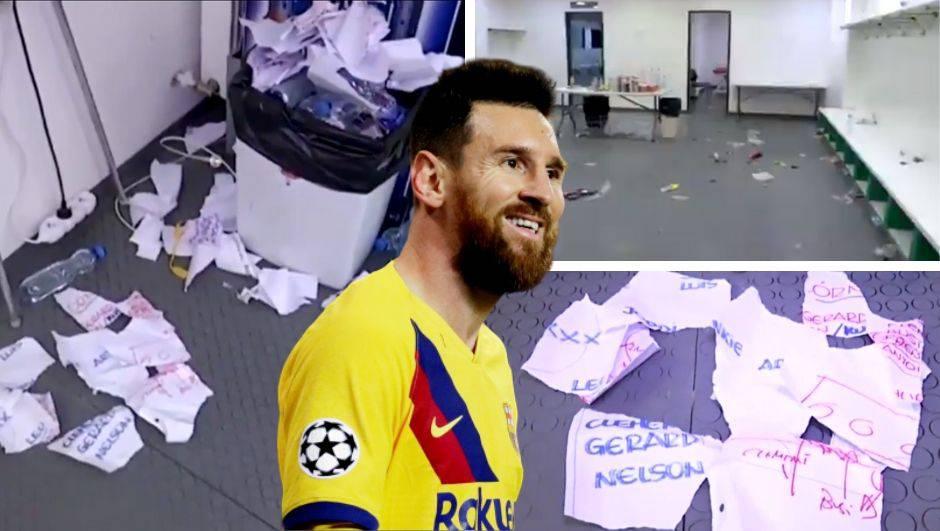 Pa što je ovo? Barcelonini su igrači devastirali svlačionicu...