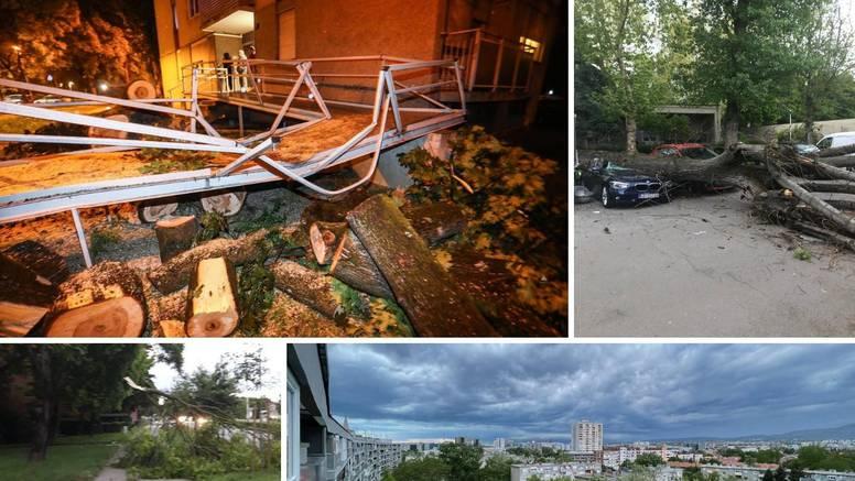 Stablo uništilo auto, drugo palo na krov kuće: 'Čula sam snažan udarac, mislila sam da je grom'