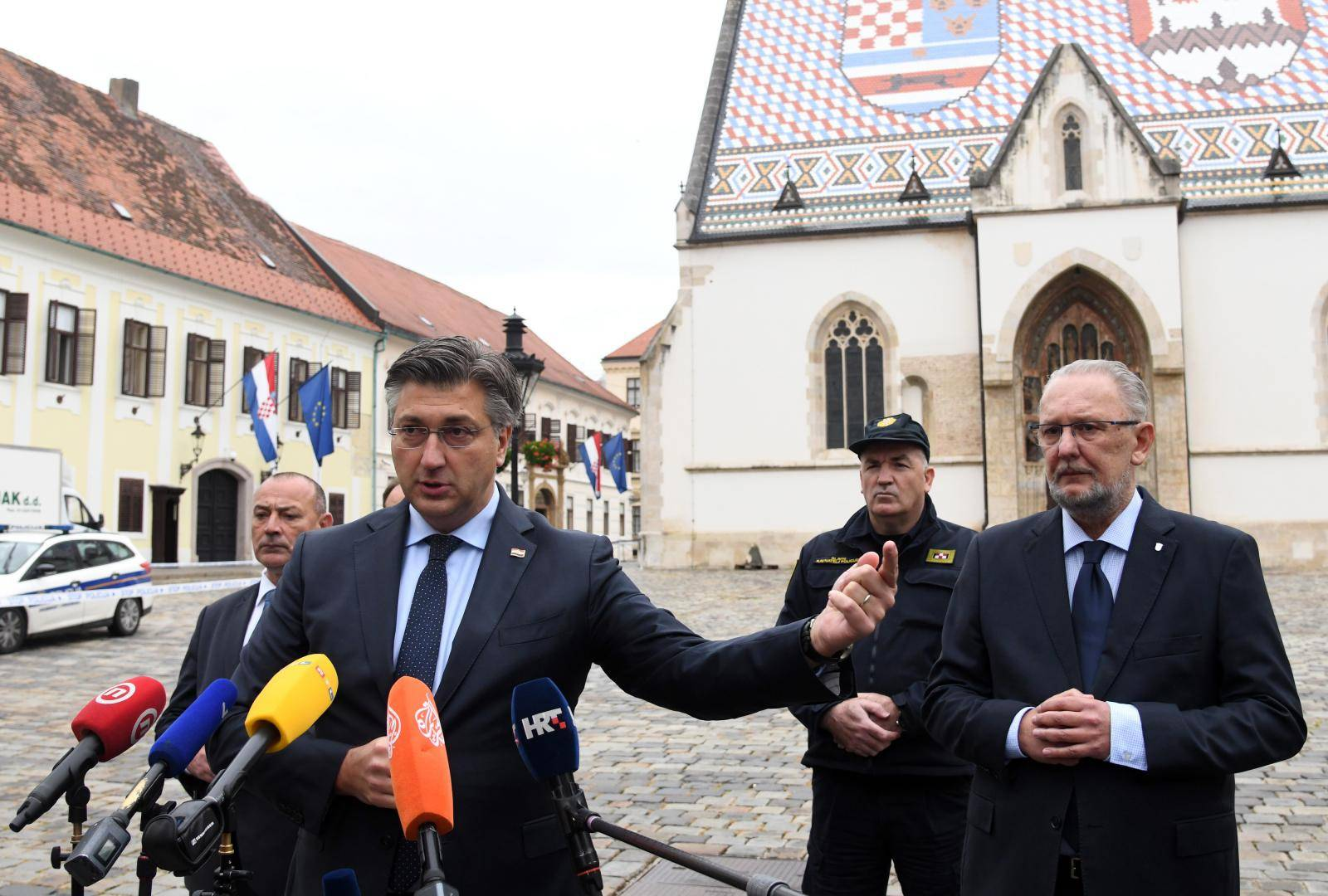 Zagreb: Izjava Andreja Plenkovića nakon pucnjave na policajca na Trgu svetog Marka