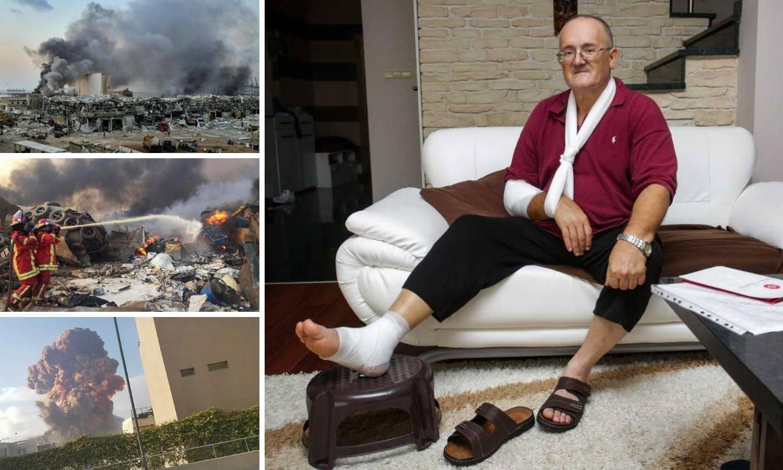 Hrvatski pomorac preživio je užas u Bejrutu: 'Eksplozija je udarila, a ja sam letio zrakom'