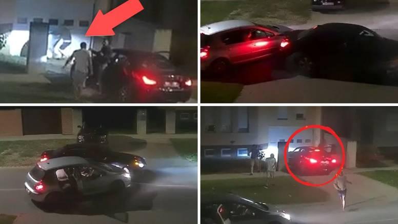 Nevjerojatna snimka: Pa ovo je GTA Osijek! Mlatili su se ispred garaže, gazili  i sudarali autima