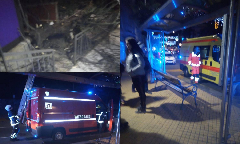 Stablo palo na ženu u Opatiji, vatrogasci morali piliti drvo