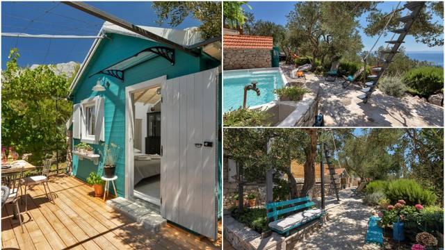 Oaza za opuštanje  u Dalmaciji: Kućica u masliniku s bazenom idealna je za romantičan odmor