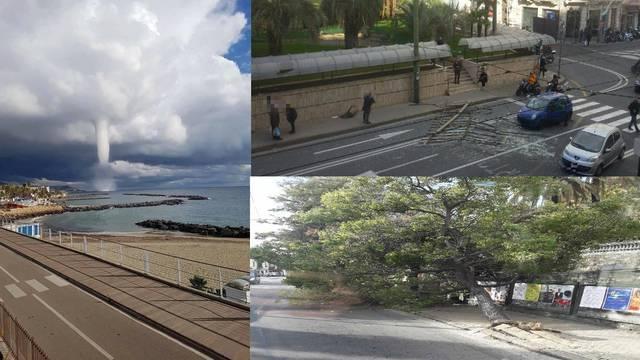 Letjeli komadi stakla, željeza...: Pijavica je poharala Sanremo