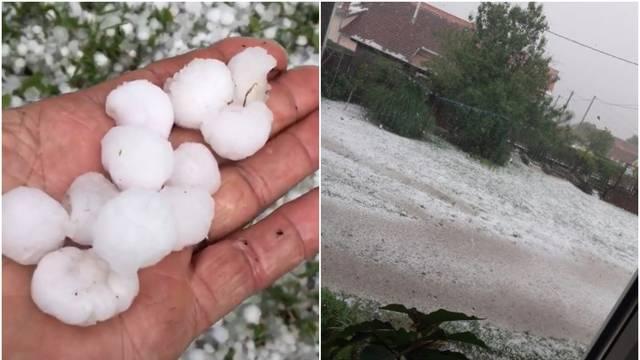 Nevrijeme zahvatilo Koprivnicu: 'Pada  tuča veličine lješnjaka'