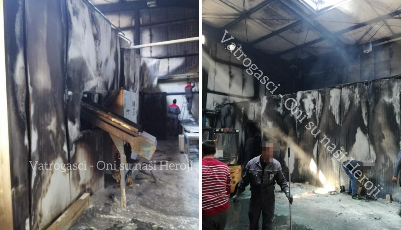 Požar u Benkovcu: Zapalio se stroj u ljevaonici, zahvatio krov