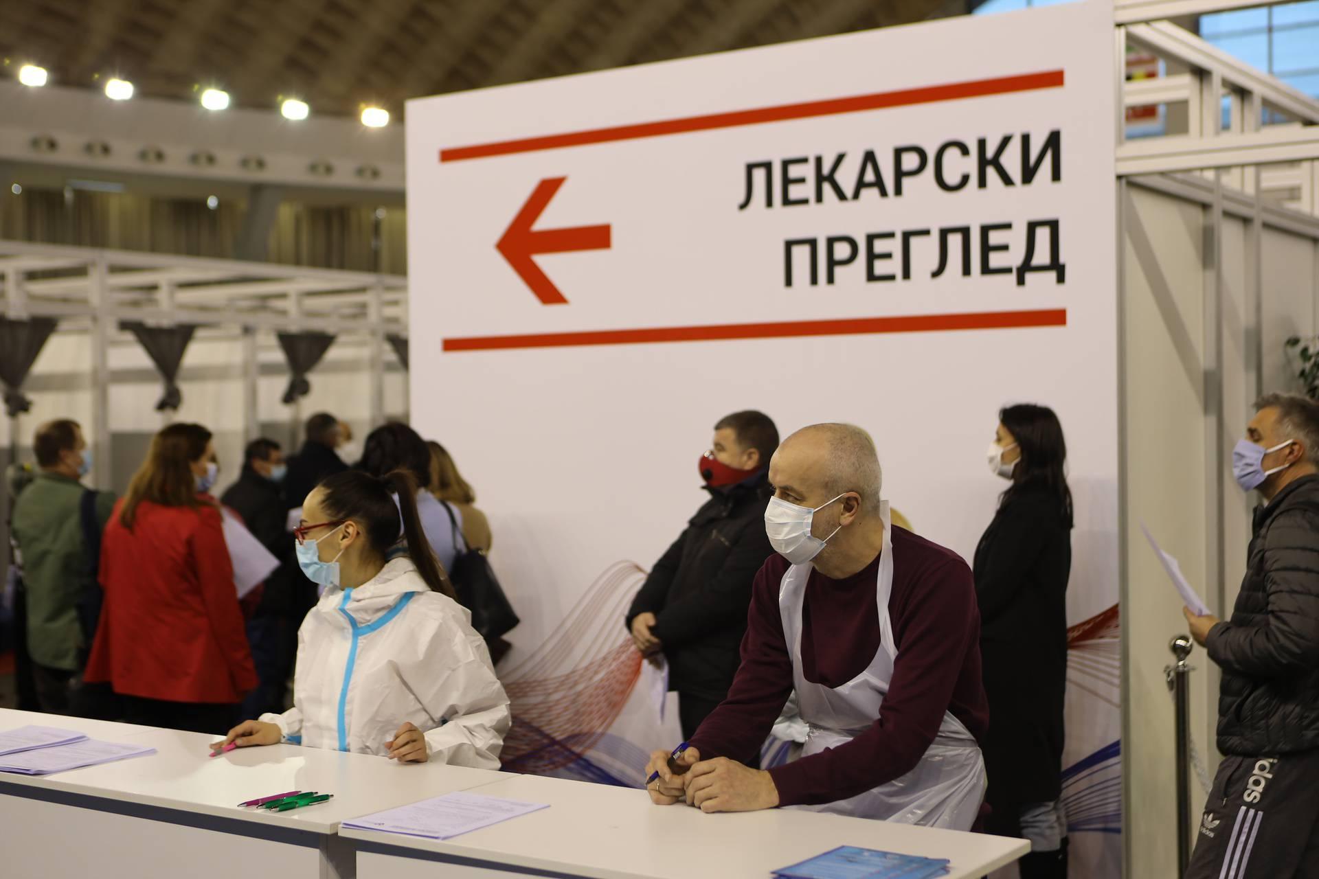 Vaccination of citizens, who registered through eGovernment, against the COVID-19 virus continues at the Belgrade fair.Na Beogradskom sajmu nastavlja se vakcinacija gradjana, koji su se prijavili preko eUprave, protiv virusa COVID-19.