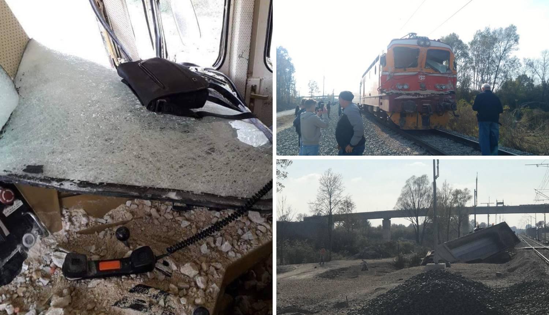 Sudar kod Vrbovca: Šljunak s kamiona završio je u vlaku