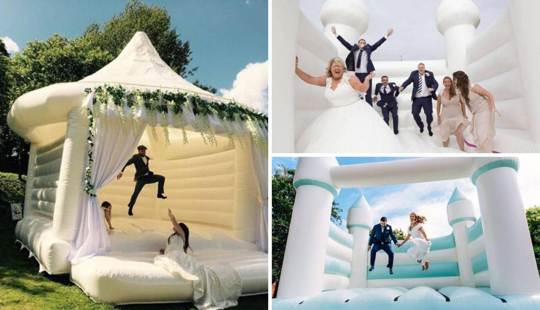 Bijeli dvorac na napuhavanje je najnoviji trend na vjenčanjima