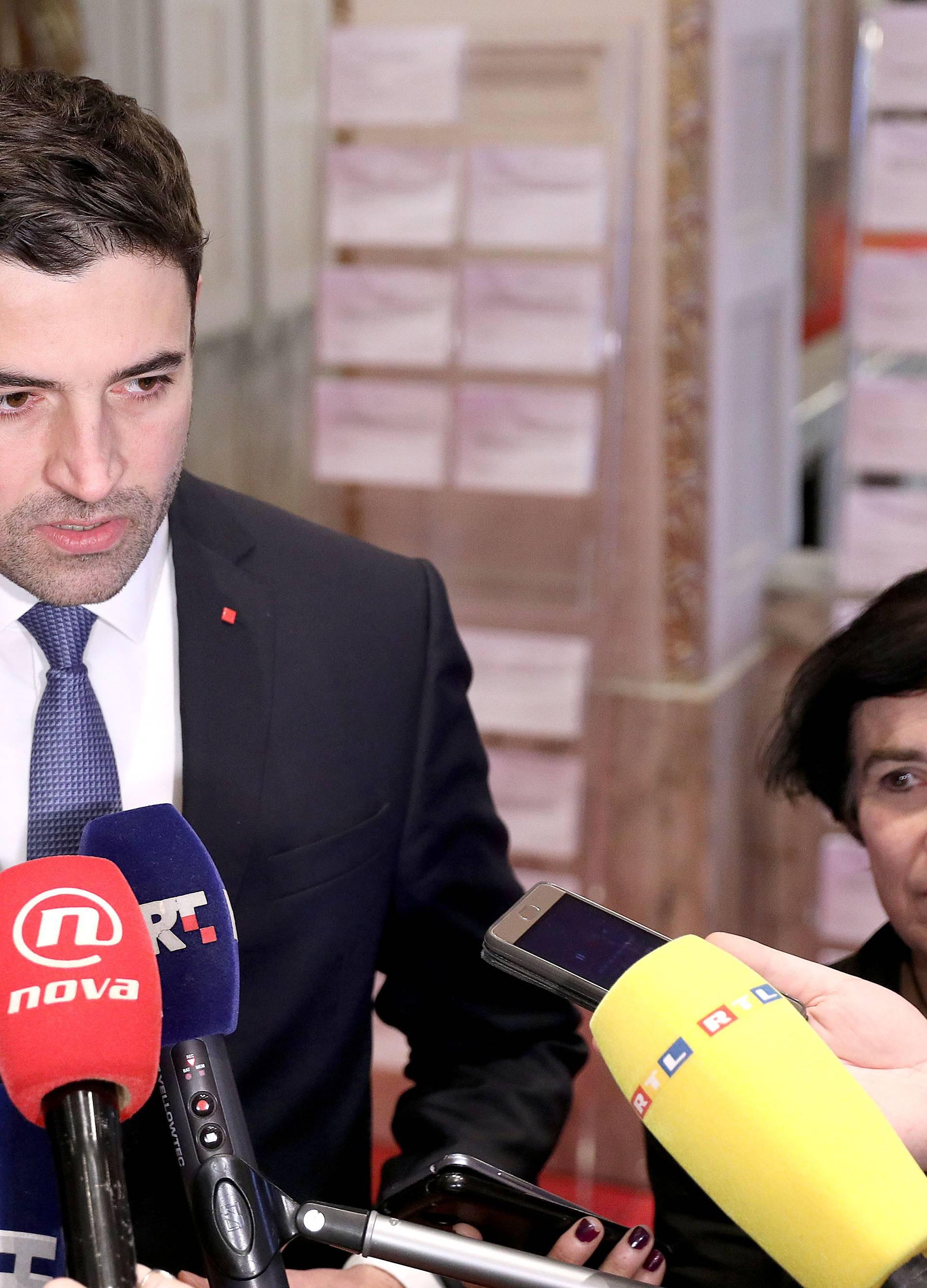 Zagreb: Davor Bernardić održao je u Saboru konferenciju za medije