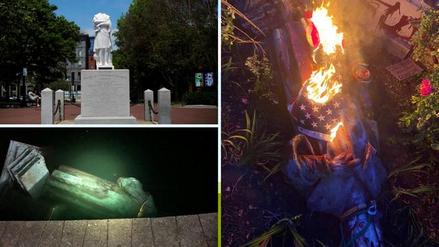Ruše kipove Kristofora Kolumba diljem Amerike: Jedan su bacili u jezero, drugom otkinuli glavu