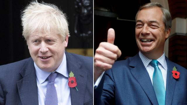 Farage odustao od izbora, vodit će kampanju protiv Johnsona