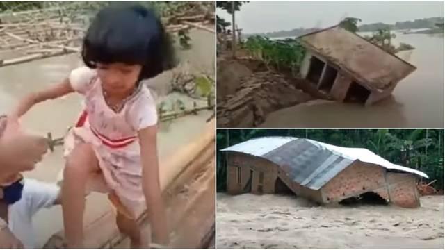 Ubojite vodene bujice u Nepalu i Indiji raselile 4 milijuna ljudi, 189 mrtvih u odronima zemlje