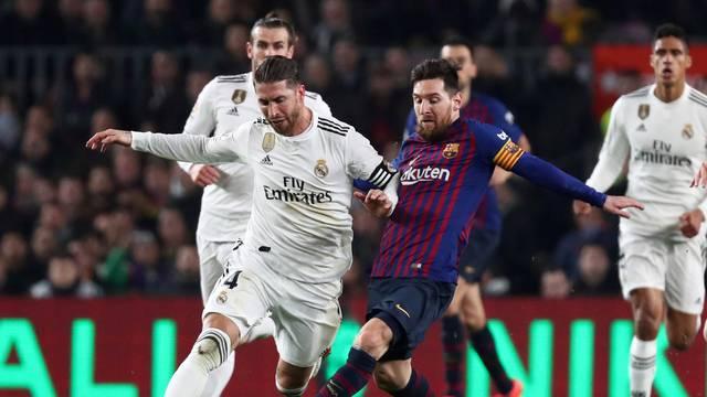 FILE PHOTO: Copa del Rey - Semi Final First Leg - FC Barcelona v Real Madrid
