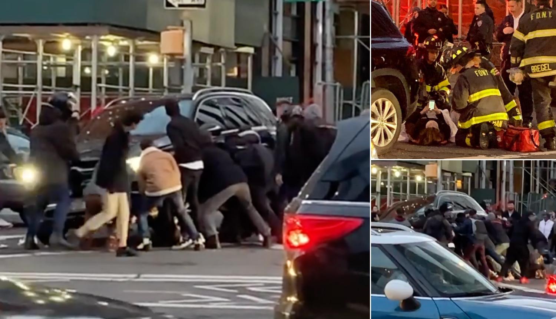 Kad se male ruke slože: Podigli auto i spasili ženu u New Yorku
