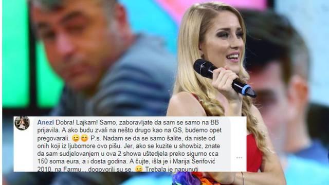 Naljutili Anezi: Zbog showova sam uštedjela 150 tisuća eura