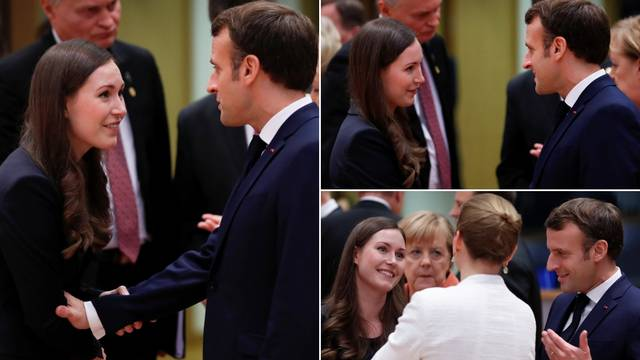 Pogledi, dodiri... Nježan odnos Macrona i mlade Finkinje Marin