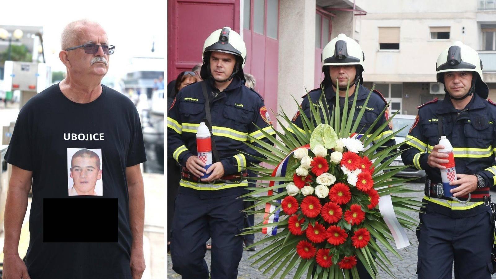 Otac stradalog vatrogasca (17) ima majicu s natpisom Ubojice
