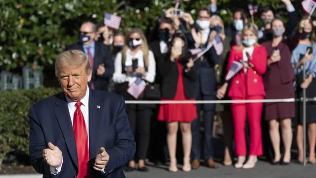 President Donald J. Trump departs the White House