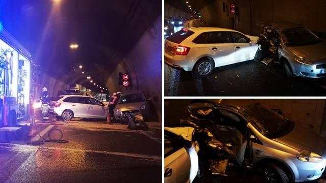 Snimka iz tunela Mala Kapela par trenutaka nakon nesreće  u kojoj je poginuo muškarac