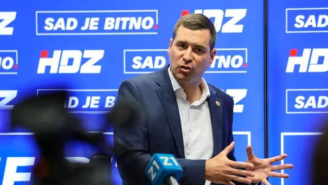 Zagreb: Predsjednik GO HDZ-a Mislav Herman obratio se medijima
