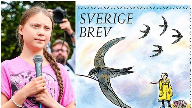 Greta na poštanskoj marci