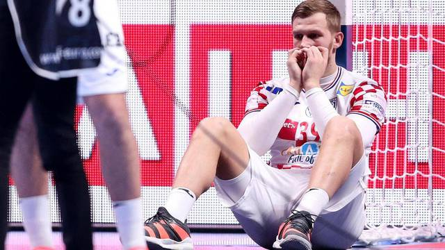 Stockholm: Tuga rukometaša Hrvatske nakon izgubljene utakmice u finalu rukometnog EP