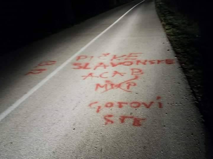 """Pogrdni grafiti: """"Dajemo život za njih, a ovako nam vraćaju!"""""""