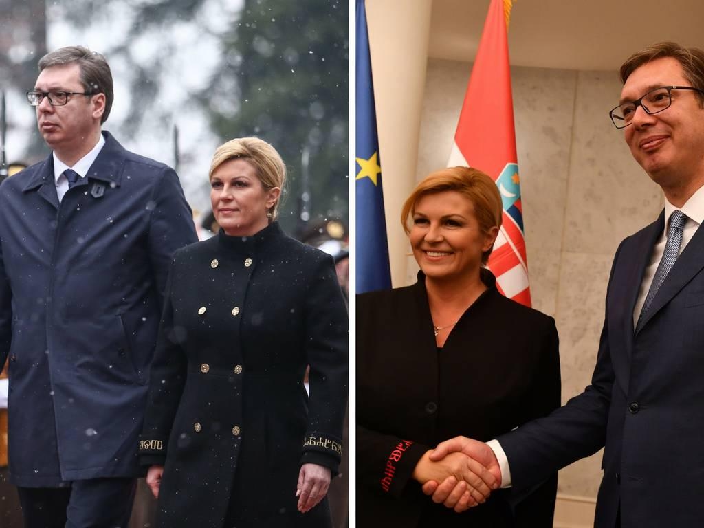 Kolinda je u Beogradu nosila 'ljubav', a u Zagrebu 'hrabrost'