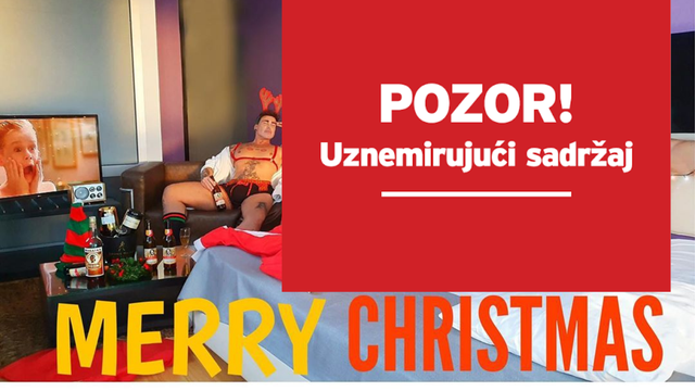 Nije za svačije oči: Ciganović je oteo pa zavezao Djeda Mraza...