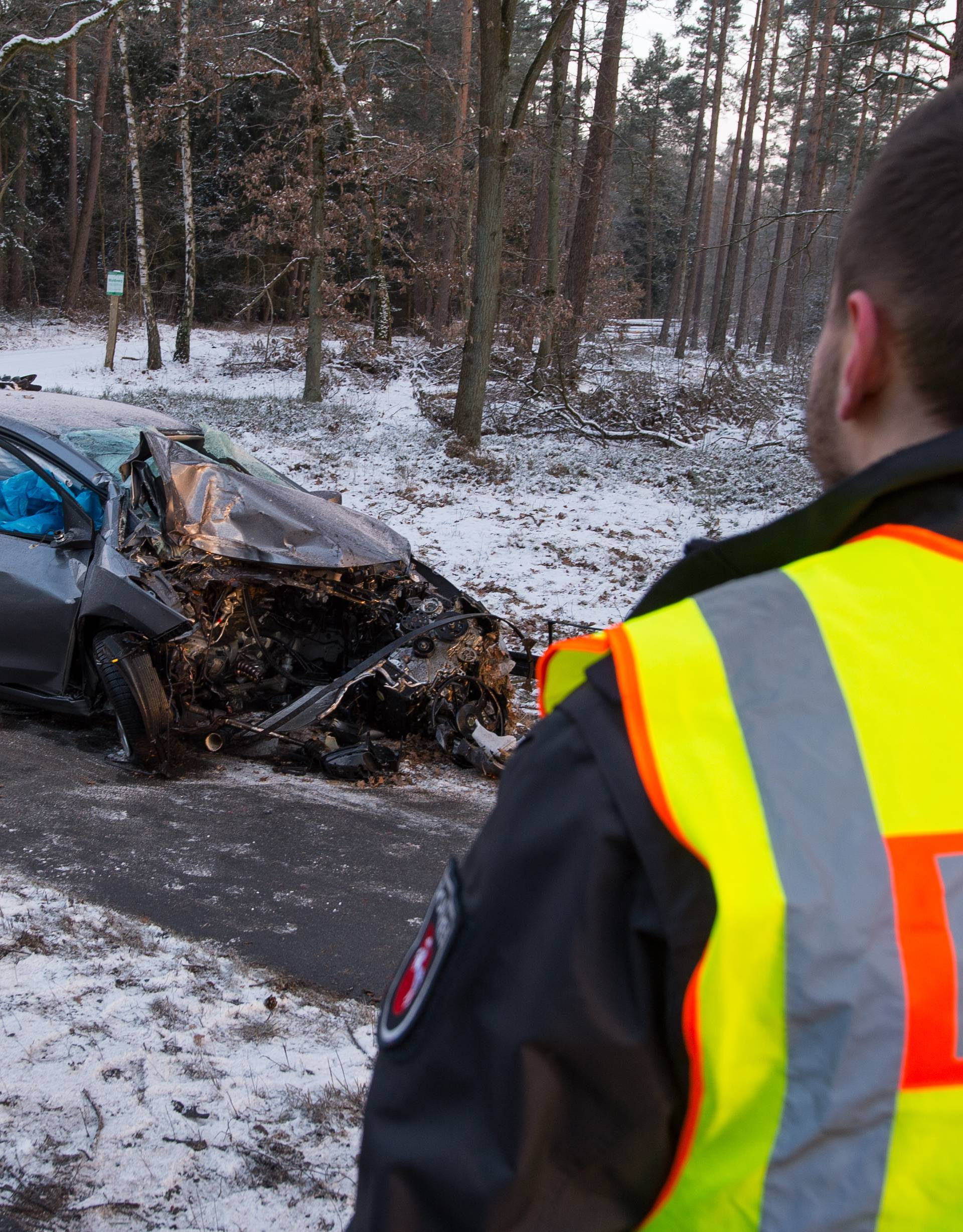 Traffic accident near Lueneburg