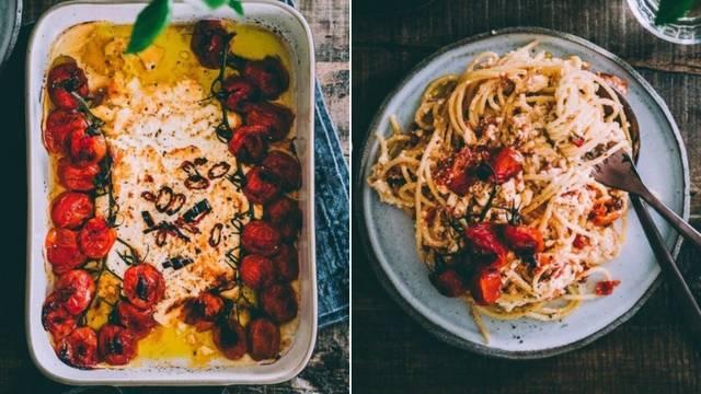 Brzi obrok: Tjestenina s čilijem, pečenom fetom i cherry rajčicom