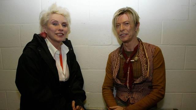 Debbie Harry and David Bowie