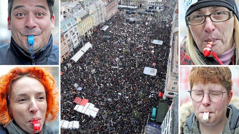 Velika fotogalerija: Prosvjed 'Hrvatska mora bolje'  na Trgu