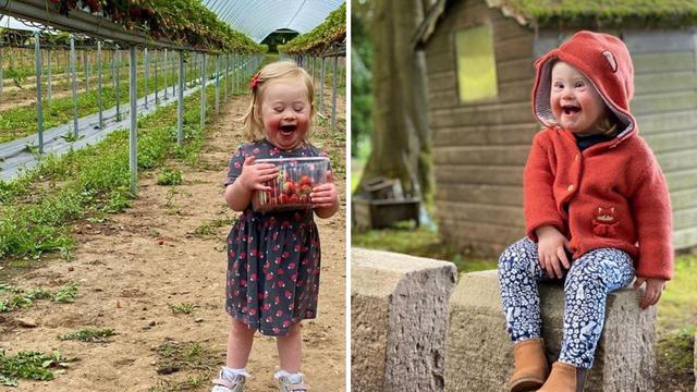 Curica (2) sa Down sindromom  postala model za dječju odjeću
