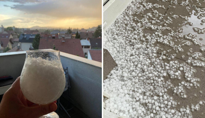 Jako nevrijeme pogodilo Zagreb - padao led veličine lješnjaka