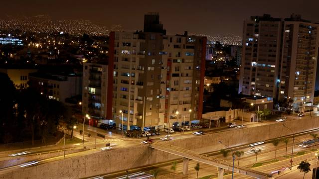 FILE PHOTO: A general view shows buildings and cars in Lima